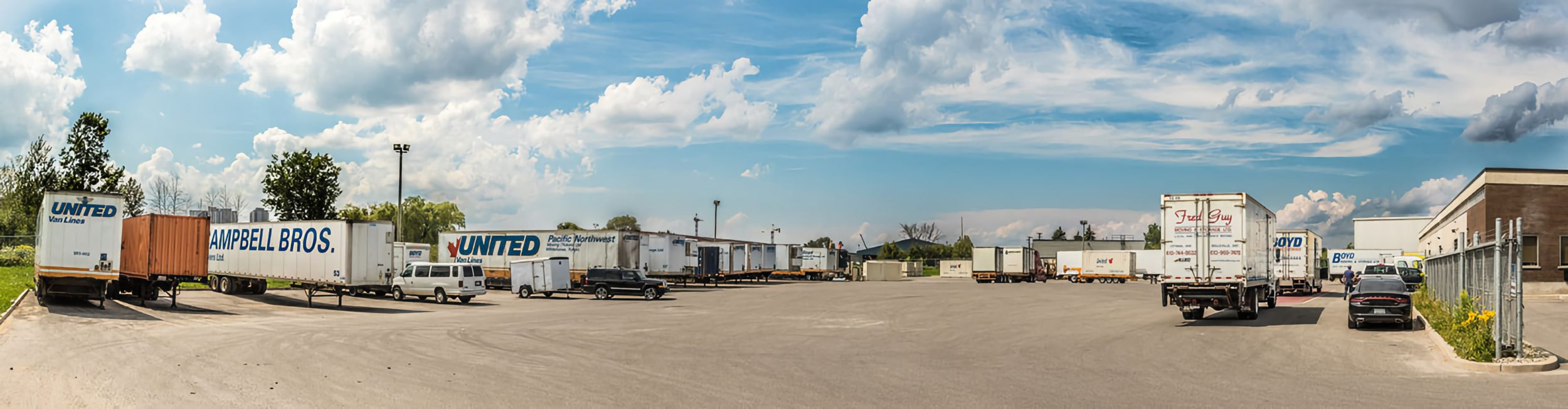 Boyd Moving - panarama shot of truck lot