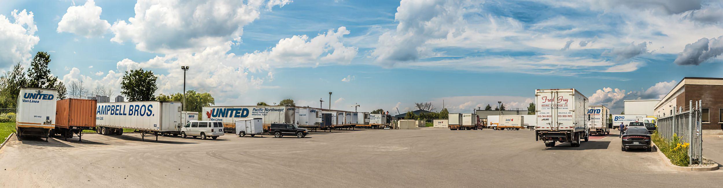 Boyd Moving - panarama shot of truck lot